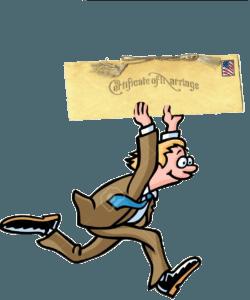 Man_delivering_Florida_marriage_license